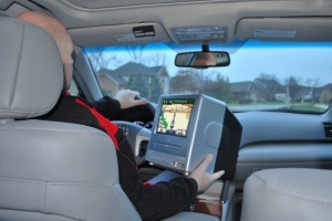 Jim found its GPS capabilities extraordinary.  It was so easy to see on such a large screen!