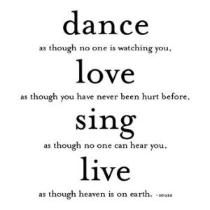 dance as though