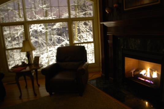 For now, I'm going to sit by the fire and take in the few.  Happy Wednesday!