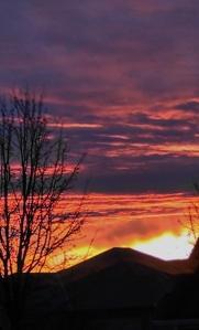sunrise on Christmas morn